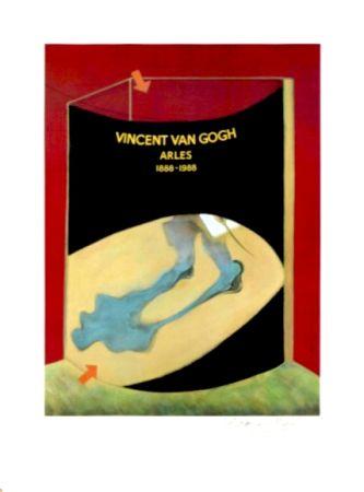 Lithographie Bacon - Hommage à Van Gogh