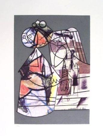 Radierung Und Aquatinta Valdés - Hommage à Velazquez.