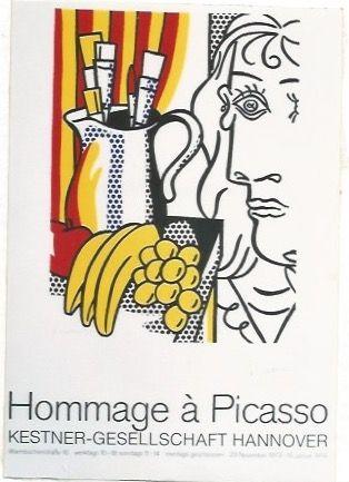 Plakat Lichtenstein - Hommage á Picasso