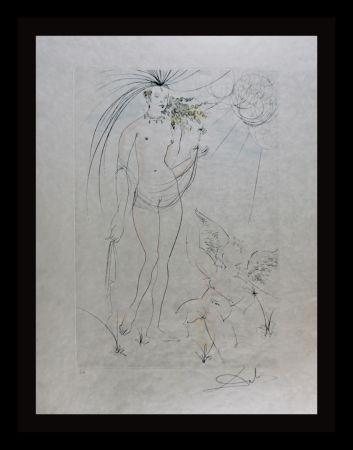 Stich Dali - Hommage a Albrecht Durer Venus & Cupid