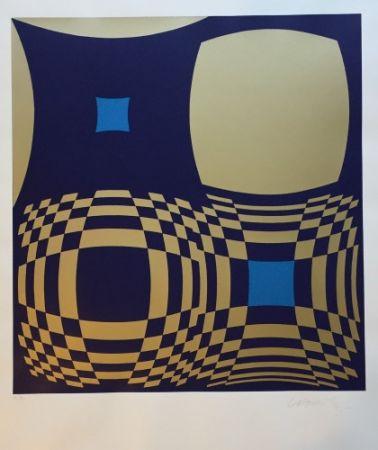 Siebdruck Vasarely - Hommage a Bartók