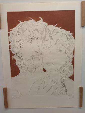 Lithographie Manzu - Hommage a Picasso
