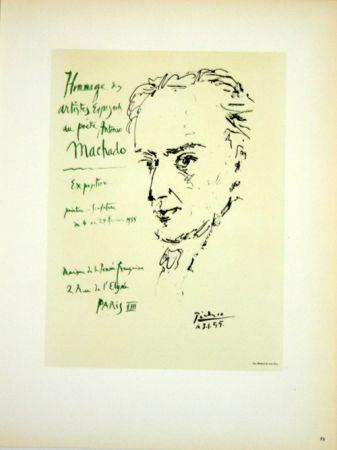 Lithographie Picasso (After) - Hommage au Poete  Antonio Marchado