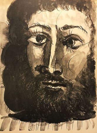 Keine Technische Picasso (After) - Homme barbu à la chemise rayée