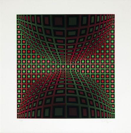 Siebdruck Vasarely - Homok