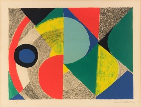 Lithographie Delaunay - Horizontale