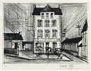 Kaltnadelradierung Buffet - Hotel de la Poste