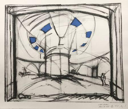 Siebdruck Buraglio - Hubert Robert – Bleu gauloise