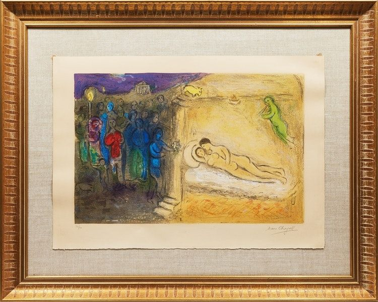 Lithographie Chagall - Hyménée from Daphnis and Chloé