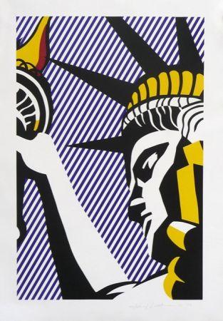 Siebdruck Lichtenstein - I Love Liberty