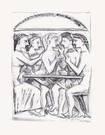 Lithographie Campigli - Il Pasto (Theseus)