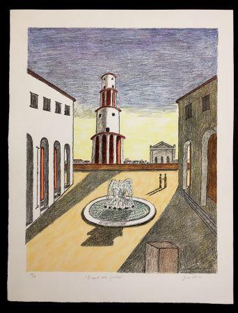 Lithographie De Chirico - Il Segreto Della Fontana