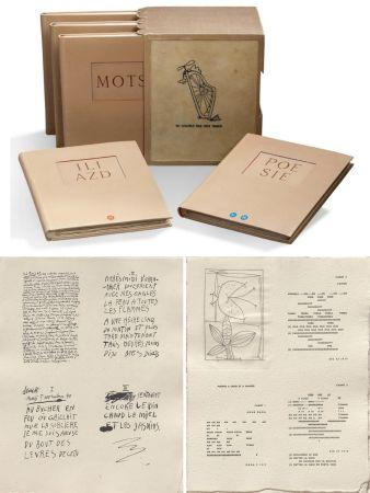 Illustriertes Buch Picasso - ILIAZD (Ilia Zdanevitch, dit.) POÉSIE DE MOTS INCONNUS. Gravures de Picasso, Matisse, Braque, Miro, Léger, Chagall, Giacometti, etc. 1949.