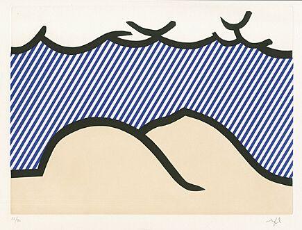 """Radierung Und Aquatinta Lichtenstein - Illustration for """"De Denver au Montana, Départ 27 Mai 1972"""" (I)"""