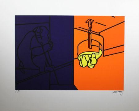 Lithographie Adami - Impressions D'afrique