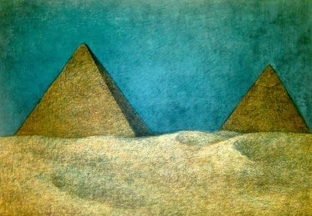 Lithographie Zuniga - Impressions Of Egypt Suite, Plate 10