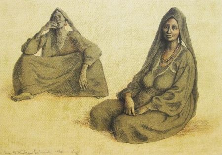 Lithographie Zuniga - Impressions Of Egypt Suite, Plate 6