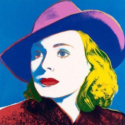 Siebdruck Warhol - Ingrid With Hat