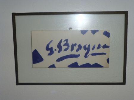Lithographie Braque - Invitation à la galerie Maeght