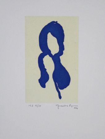 Aquatinta Hernandez Pijuan - Iris Blau I / Blue Iris I