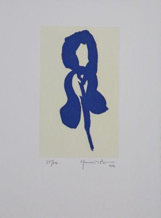 Aquatinta Hernandez Pijuan - Iris Blau Iv / Blue Iris Iv