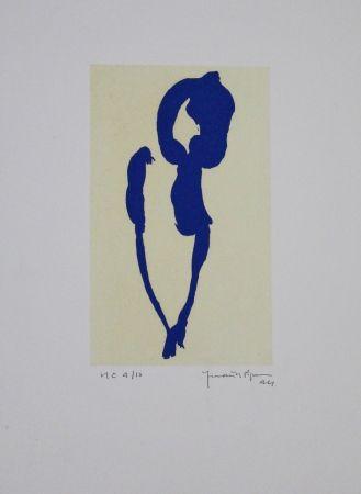 Aquatinta Hernandez Pijuan - Iris Blau Vii / Blue Iris Vii