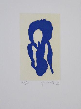 Aquatinta Hernandez Pijuan - Iris Blau X / Blue Iris X