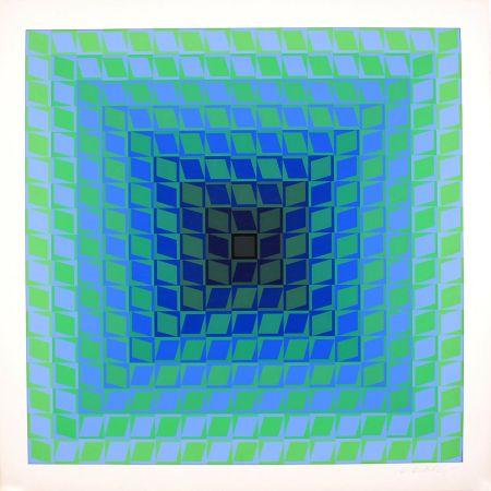 Siebdruck Vasarely - IX POSITIF - QUASAR