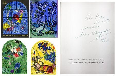 Illustriertes Buch Chagall - J. Leymarie : VITRAUX POUR JÉRUSALEM. DÉDICACÉ ET SIGNÉ PAR MARC CHAGALL. 1962.