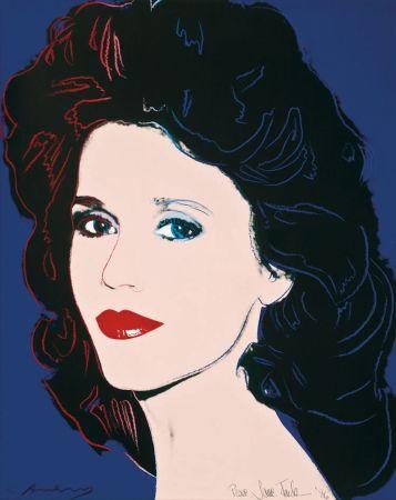 Siebdruck Warhol - Jane Fonda (FS II.268)