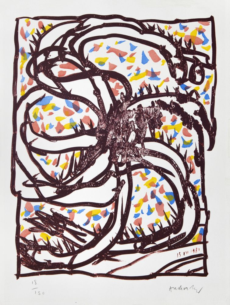 Lithographie Alechinsky - Jantes et jambes