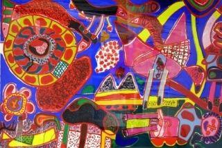Lithographie Corneille - Jardin Des Delices