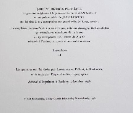 Lithographie Music - Jardins Dèserts Peut-Ètre