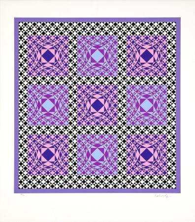 Siebdruck Vasarely - Jatek