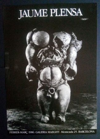 Plakat Plensa - JAUME PLENSA MAEGHT 1986