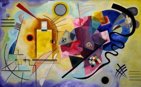 Lithographie Kandinsky - Jaune rouge