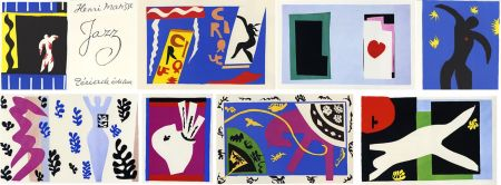 Illustriertes Buch Matisse - JAZZ (20 lithographies en couleurs hors-texte). 1ère édition.