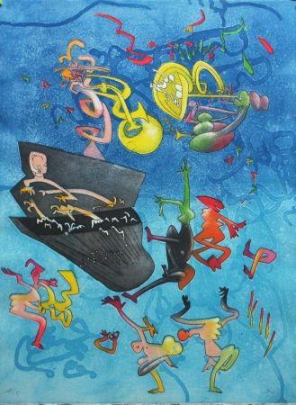 Radierung Und Aquatinta Matta - Jazz Band II