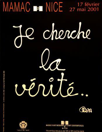 Plakat Vautier - '' Je Cherche la Vérité ''