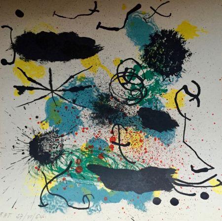 Lithographie Miró - Je Travaille Comme Un Jardinier