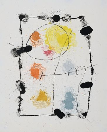 Lithographie Miró - Je Travaille Comme Un Jardinier (I Work Like A Gardener), 1963