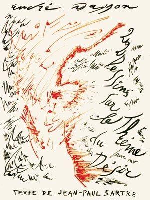 Lithographie Masson - Jean-Paul Sartre : Vingt-Deux Dessins Sur Le Thème Du Désir