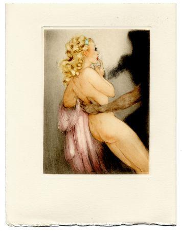 Illustriertes Buch Icart - Jean de la Fontaine : LES AMOURS DE PSYCHÉ ET DE CUPIDON. Pointes sèches de Louis Icart (1949).