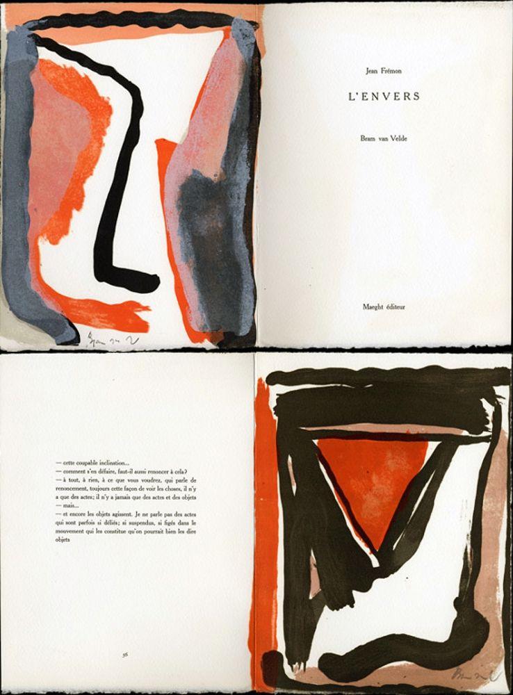 Illustriertes Buch Van Velde - Jean Frémon. L'ENVERS. Maeght, Paris 1978