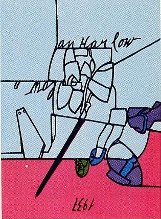 Siebdruck Adami - Jean Harlow