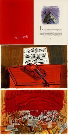 Illustriertes Buch Dufy - Jean Witold : CONCERT DES ANGES - 9 lithographies en couleurs (1963).