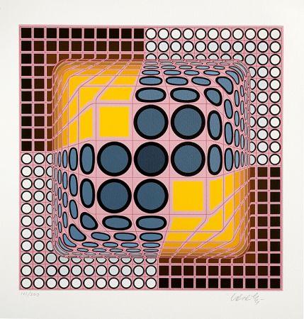 Siebdruck Vasarely - Jenge
