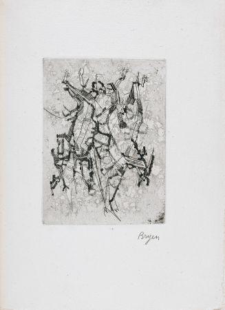 Illustriertes Buch Bryen - Jepeinsje. Poème et eau-forte de Camille Bryen (1955)