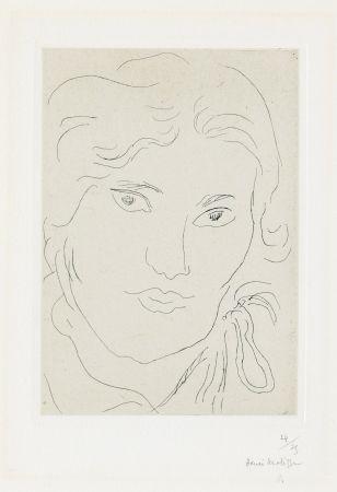 Stich Matisse - Jeune fille de face, flot de ruban sur l'épaule gauche