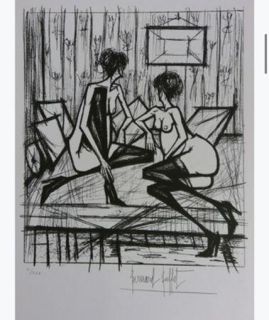 Lithographie Buffet - Jeux de dames
